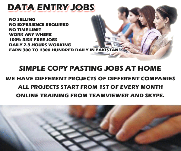 MakePakMoney.com Offering Data Entry Jobs In Pakistan At Home ...